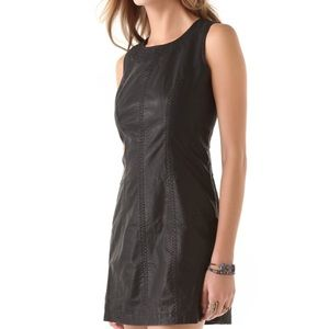Faux leather free people dress